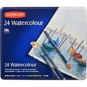 Derwent watercolour 24 ass. metalæske